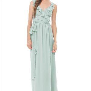 Lacey Long Chiffon Dress by Joanna August